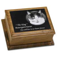 5 x 7 African Mahogany pet cremation urn