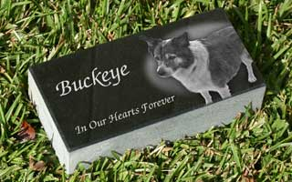 8 x 4 x 2 China black granite pet marker