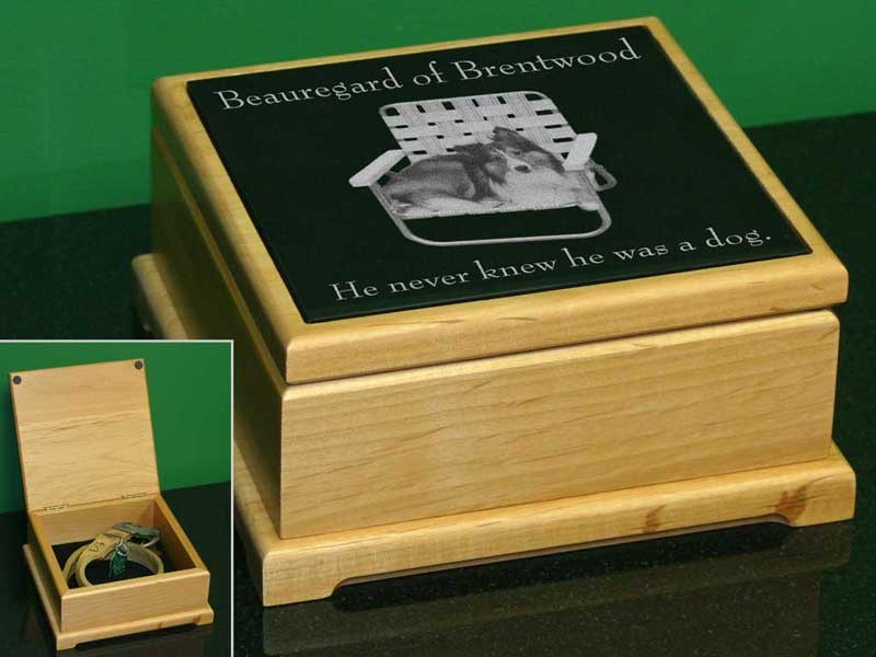 6 x 6 Alder Memorial Keepsake Box