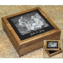 6 x 6 Walnut Memorial Keepsake Box