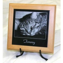 6 x 6 China Black Marble Memorial with Alder Trivet