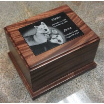 5 x 7 Large Mahogany Pet Urn - special order - 6 weeks