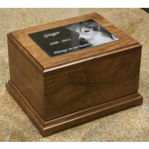 5 x 7 Large Walnut Pet Urn-special order- 6 weeks