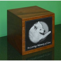 6 x 6 Upright Mahogany Pet Urn - special order - 6 weeks