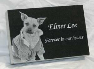 12 x 8 x 2 Memorial Pet Marker