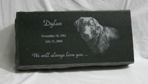 16 x 8 x 3 Memorial Pet Marker