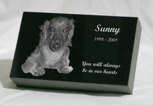 10 x 6 x 2 Memorial Pet Marker