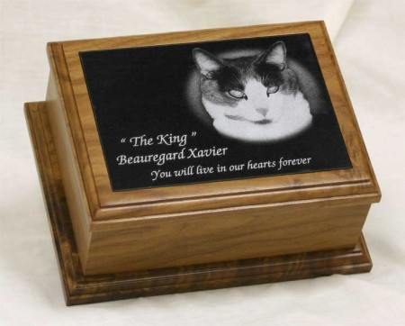 5 x 7 Walnut Pet Urn